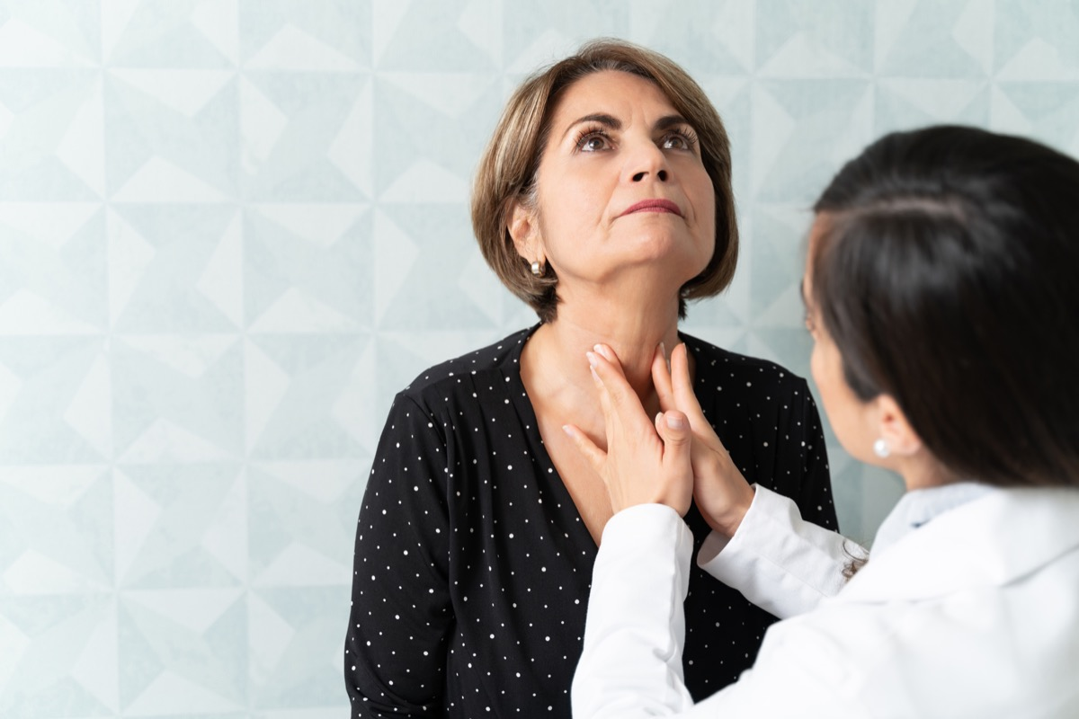 woman visiting female geriatrician for thyroid checkup