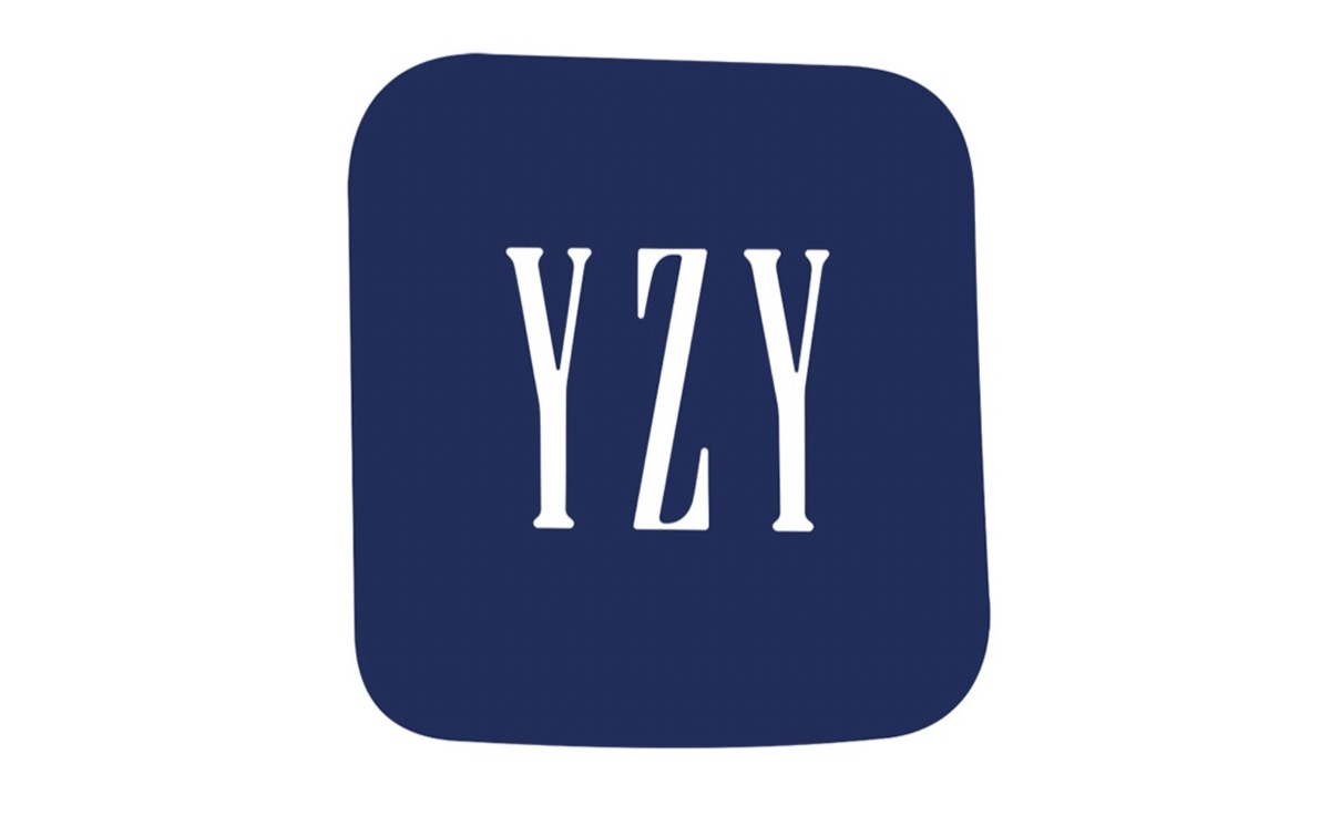blue square with the letters YZY inside, mimicking the design of the GAP logo