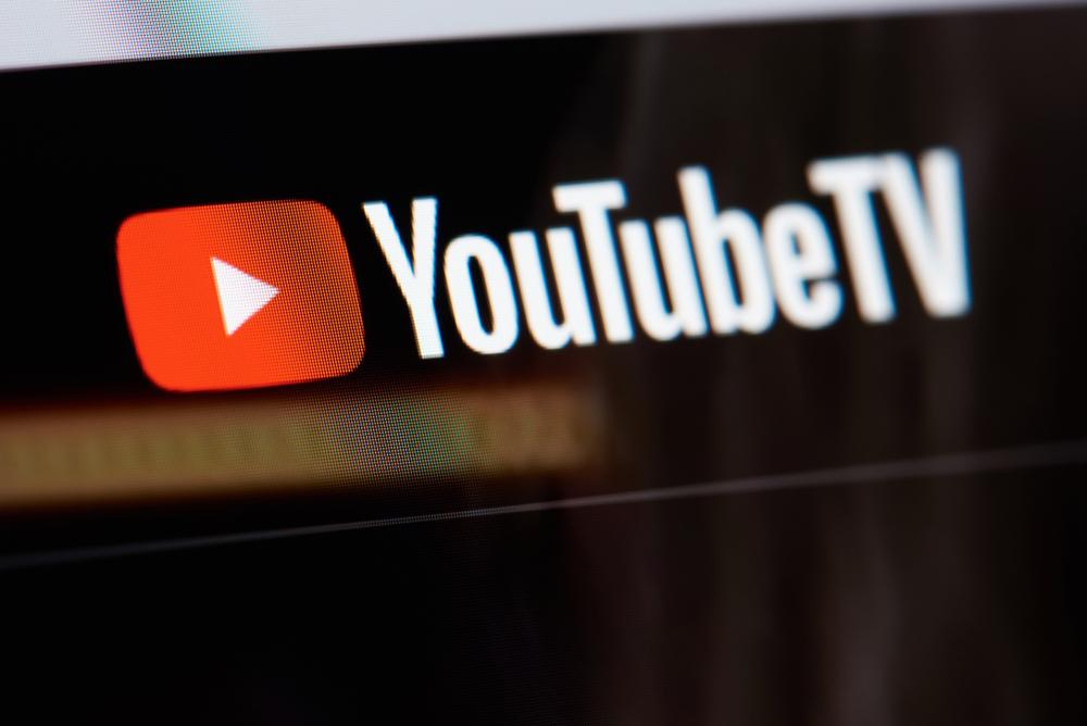 The YouTubeTV logo on a screen