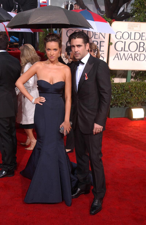 Alicja Bachleda-Curuś and Colin Farrell at the 2010 Golden Globe Awards