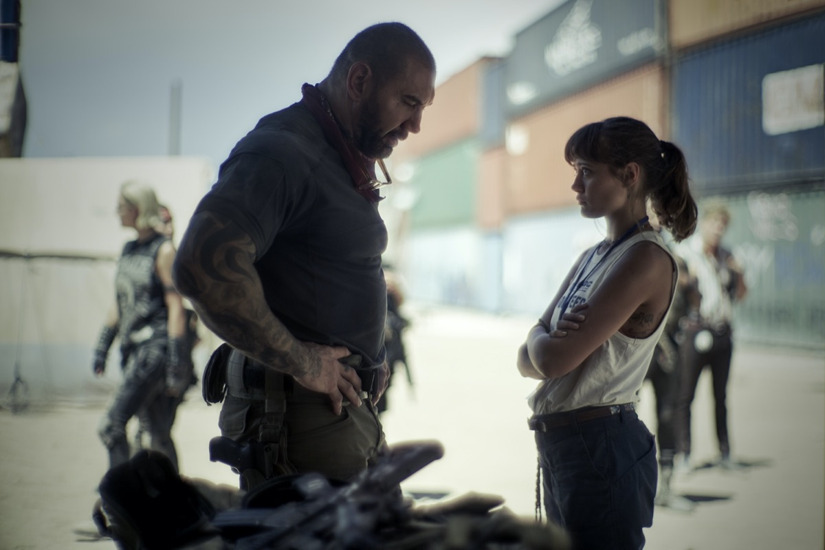 Dave Bautista and Ella Purnell in Army of the Dead