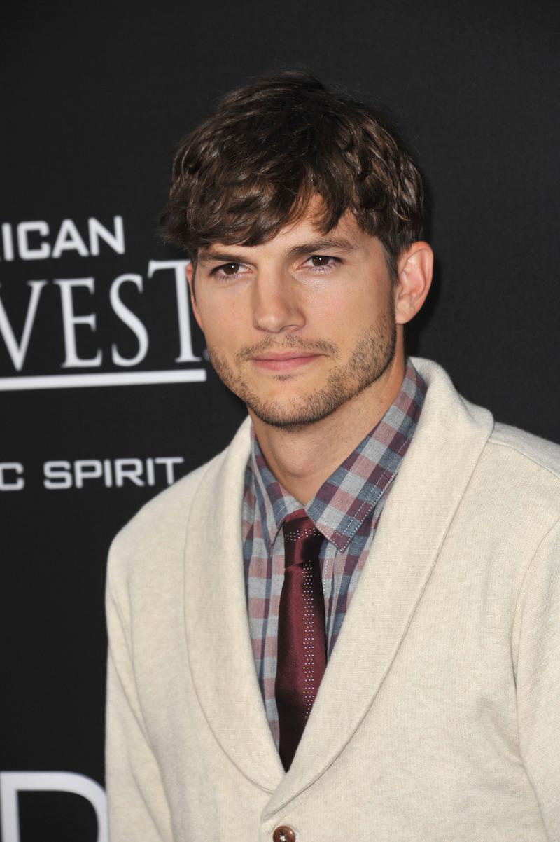 "Ashton Kutcher at the premiere of ""Jobs"" in 2013"
