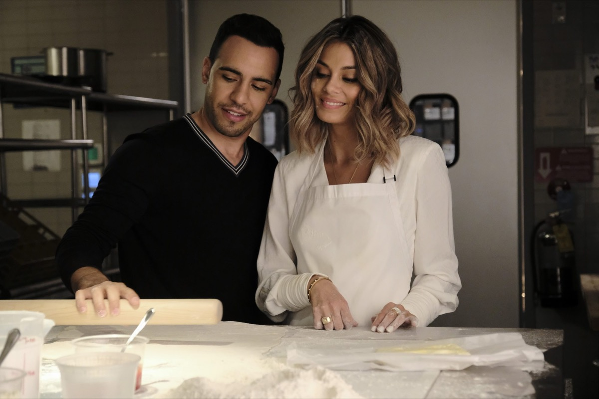 Victor Rasuk and Nathalie Kelley in The Baker and the Beauty