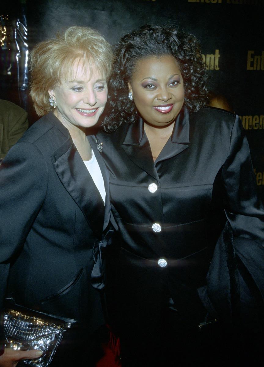 Barbara Walters and Star Jones in 1999