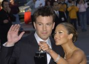 """Ben Affleck and Jennifer Lopez at the premiere of """"Daredevil"""" in 2003"""