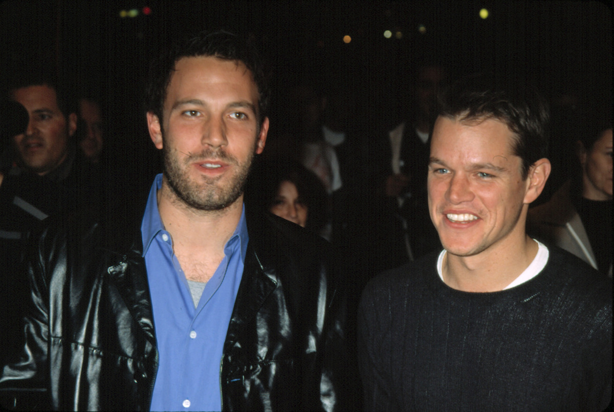"""Ben Affleck and Matt Damon at the premiere of """"Project Greenlight"""" in 2001"""