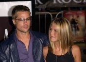 """Brad Pitt and Jennifer Aniston at the premiere of """"Rock Star"""" in 2001"""