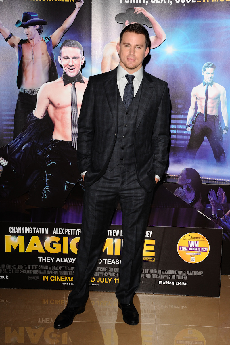 """Channing Tatum at the London premiere of """"Magic Mike"""" in 2012"""