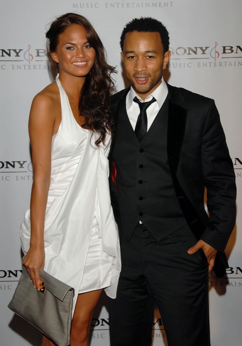 Chrissy Teigen and John Legend in 2008