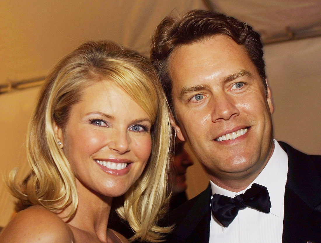 Christie Brinkley and Peter Cook at a White House Correspondents Dinner party in 2002