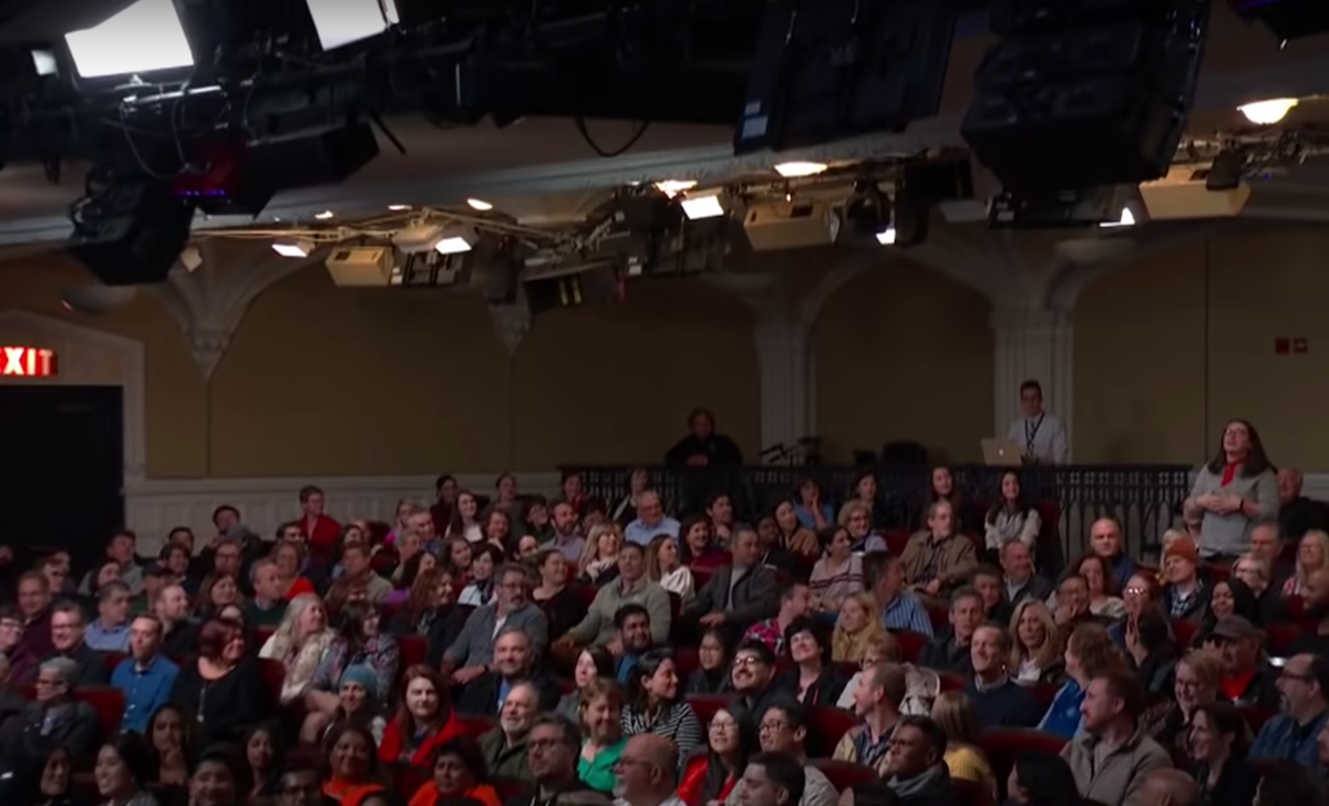 """The audience during an episode of """"The Late Show"""""""