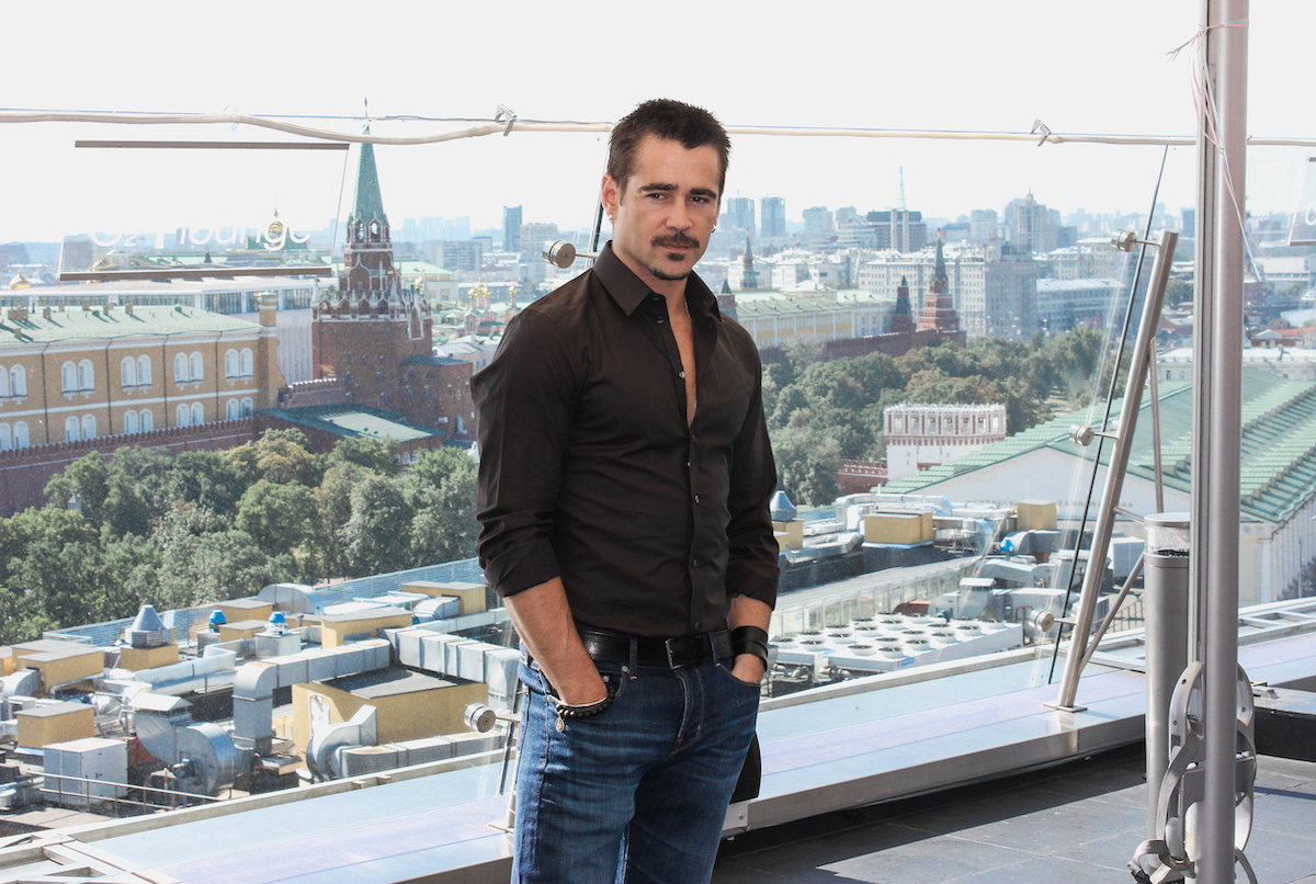 Colin Farrell in Moscow in 2012