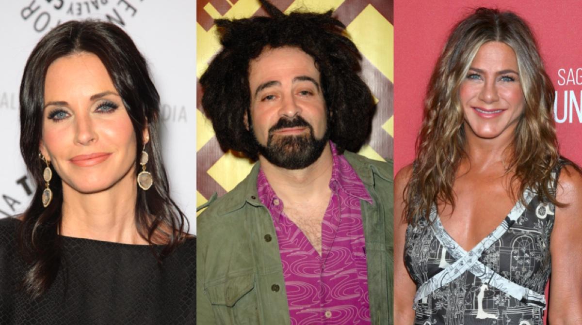 Courteney Cox, Adam Duritz, and Jennifer Aniston