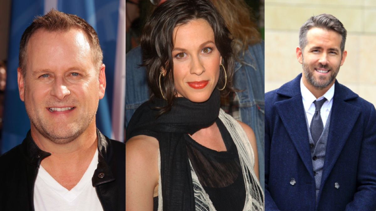 Dave Coulier, Alanis Morissette, and Ryan Renolds