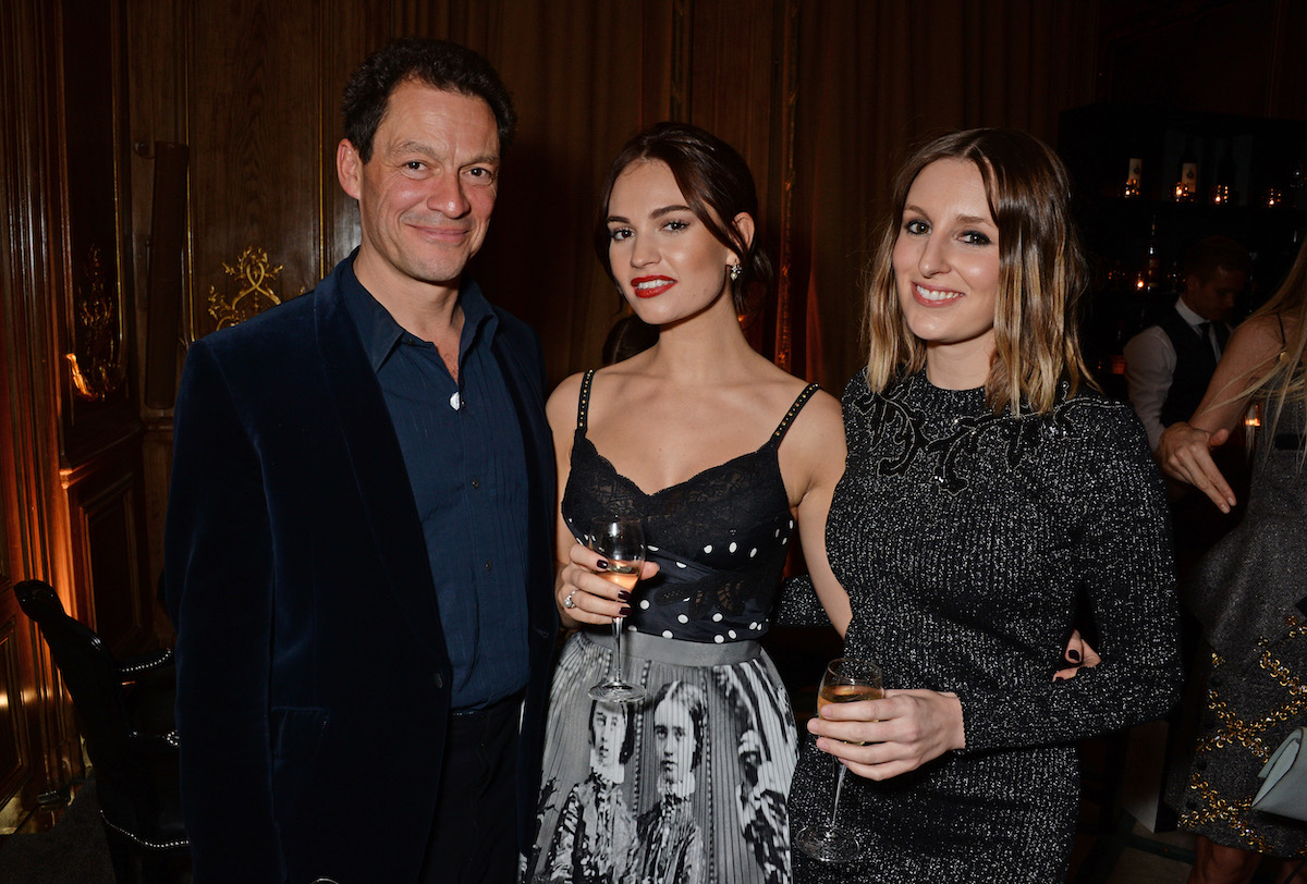 Dominic West, Lily James, and Laura Carmichael at the Harper's Bazaar Women of the Year Awards in 2018