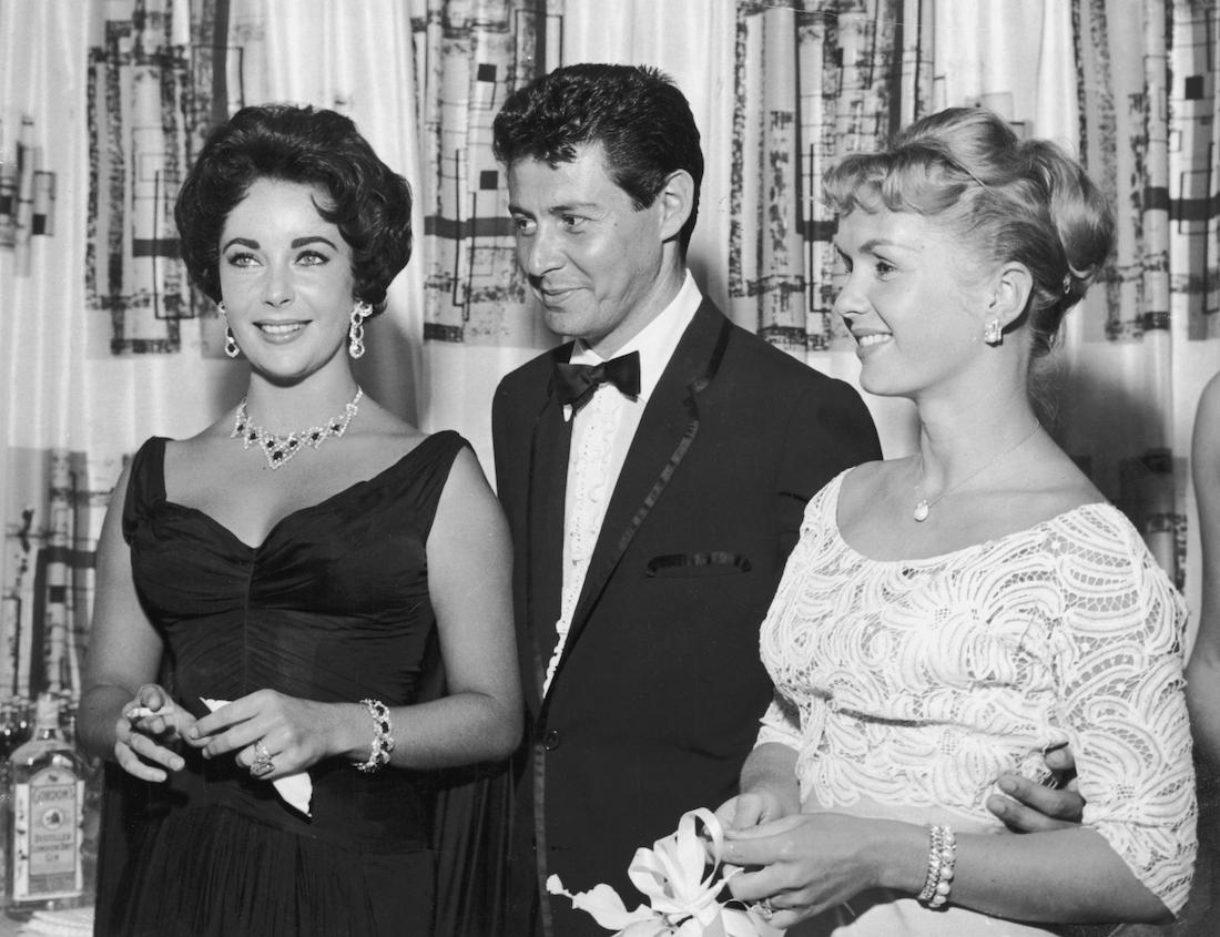 Elizabeth Taylor, Eddie Fisher, and Debbie Reynolds in Las Vegas in 1958