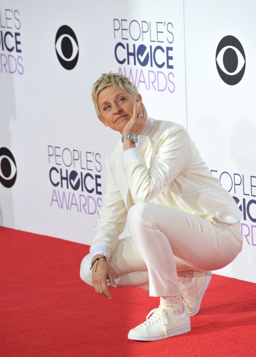 Ellen DeGeneres at the People's Choice Awards in 2015