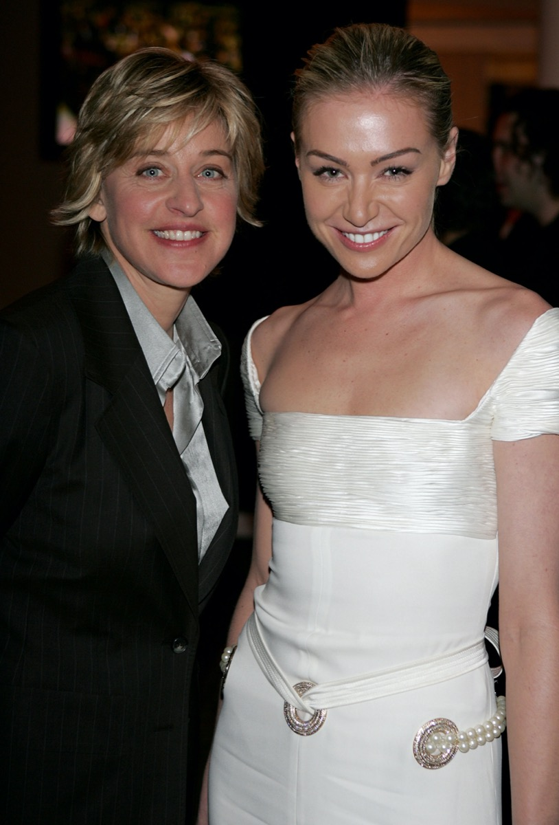 Ellen DeGeneres and Portia de Rossi in 2004