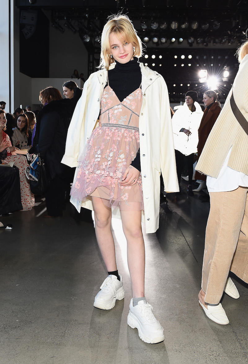 Esther McGregor at the Self-Portrait show at New York Fashion Week in 2019