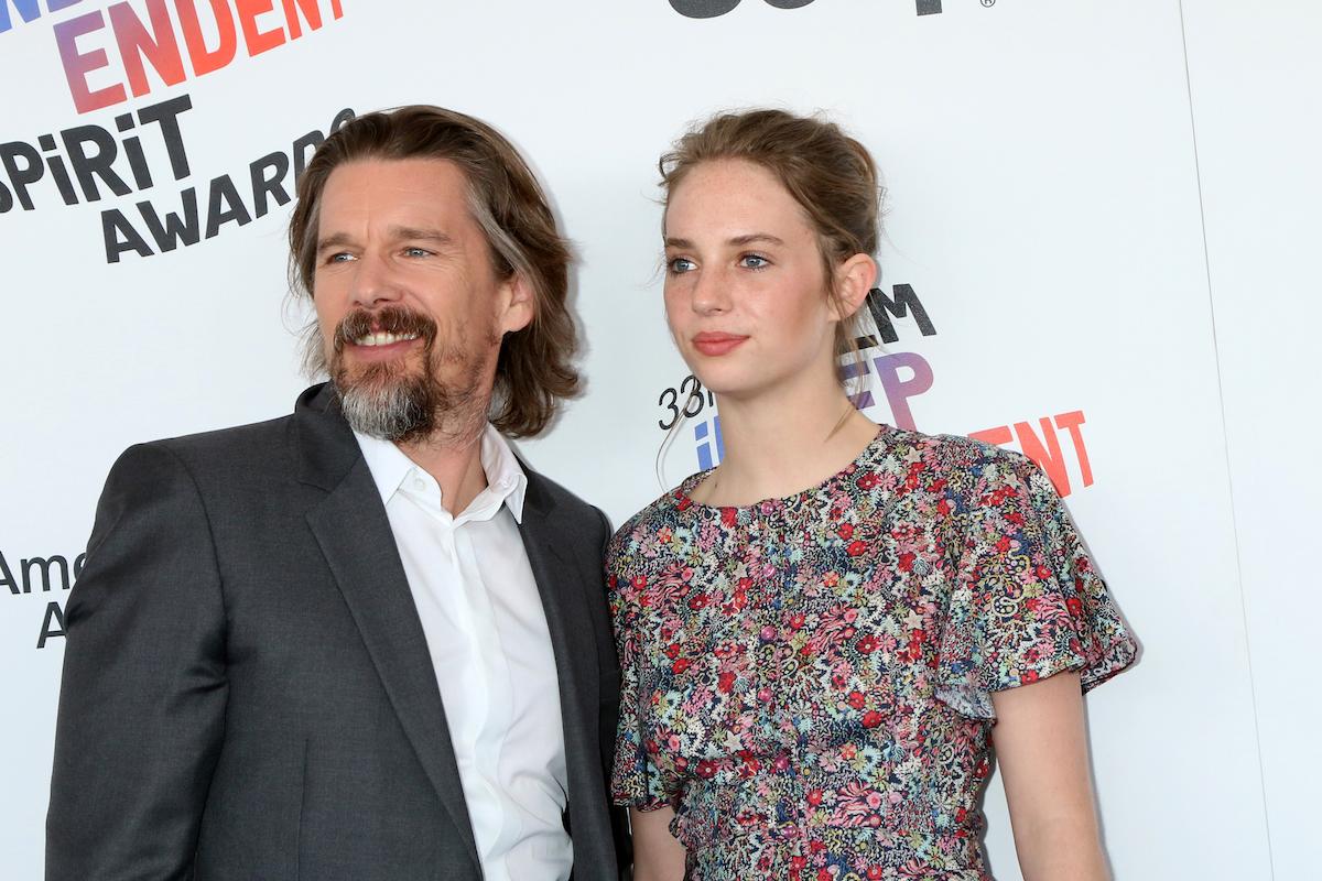 Ethan Hawke and Maya Hawke at the 2018 Film Independent Spirit Awards
