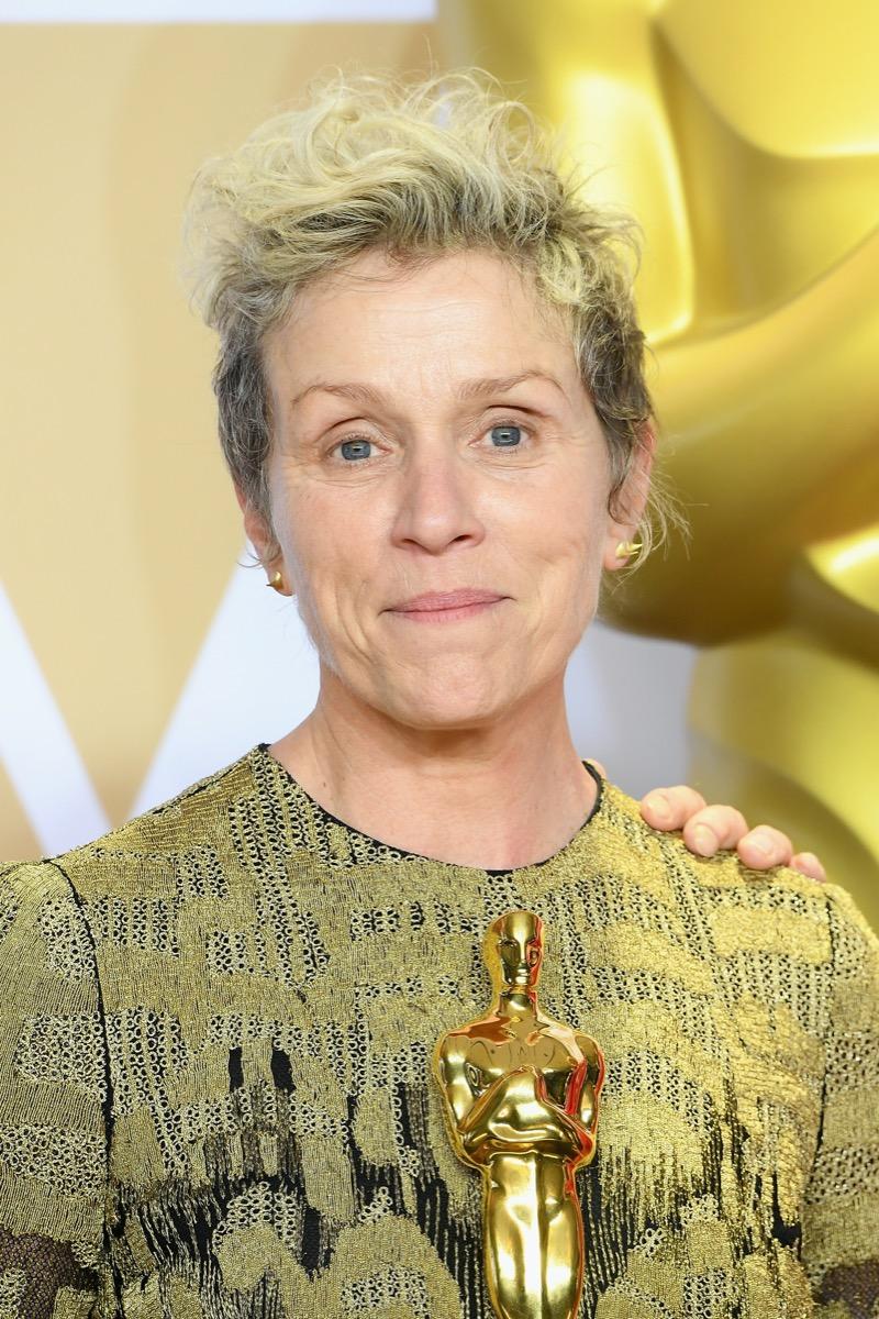 Frances McDormand at the 2018 Oscars