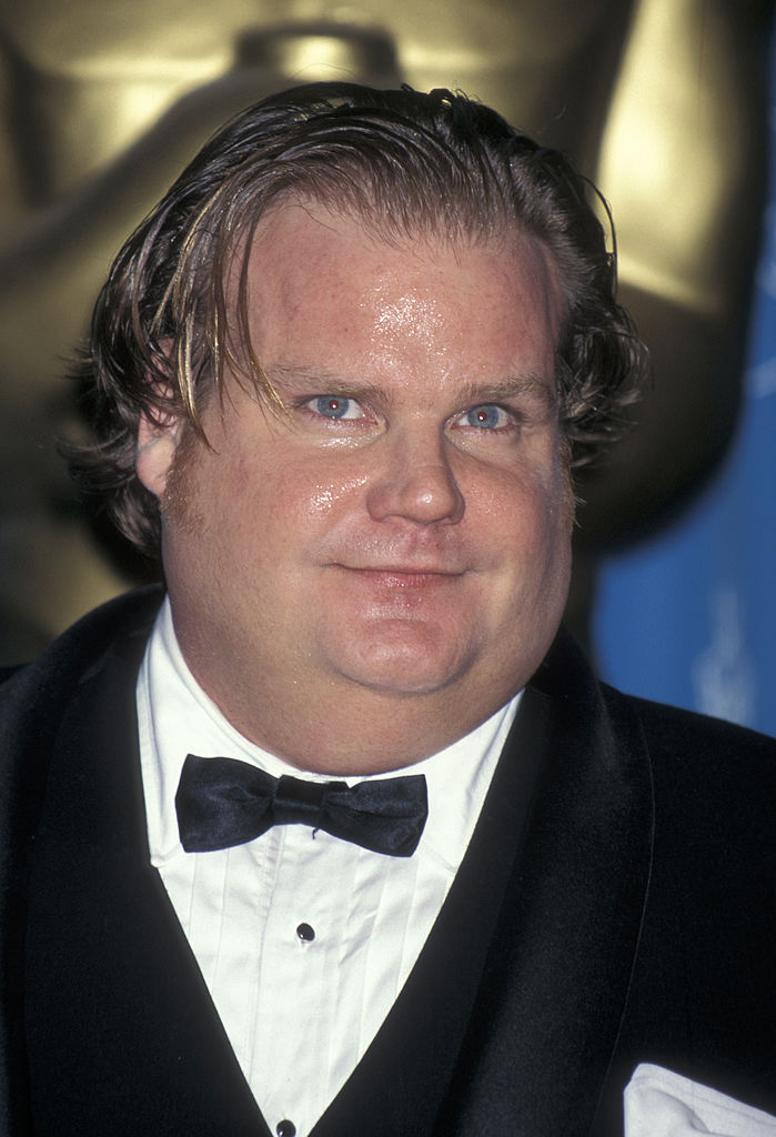 chris farley on the red carpet