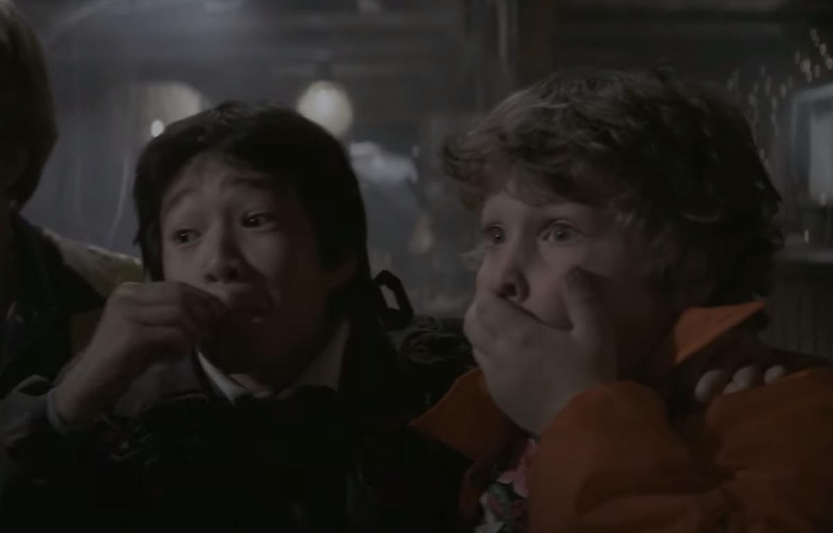 "Ke Huy Quan and Jeff Cohen in ""The Goonies"""