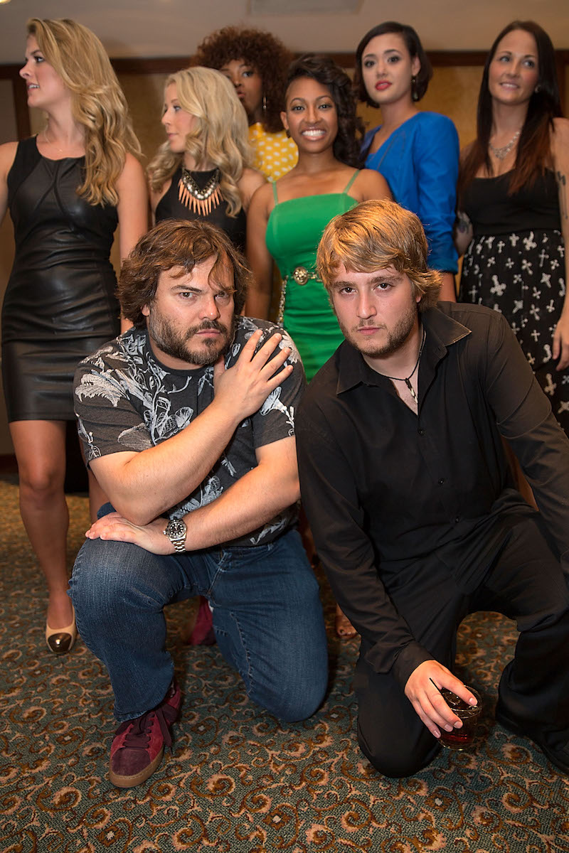 """Jack Black and Kevin Clark at a 10-year """"School of Rock"""" reunion in 2013"""