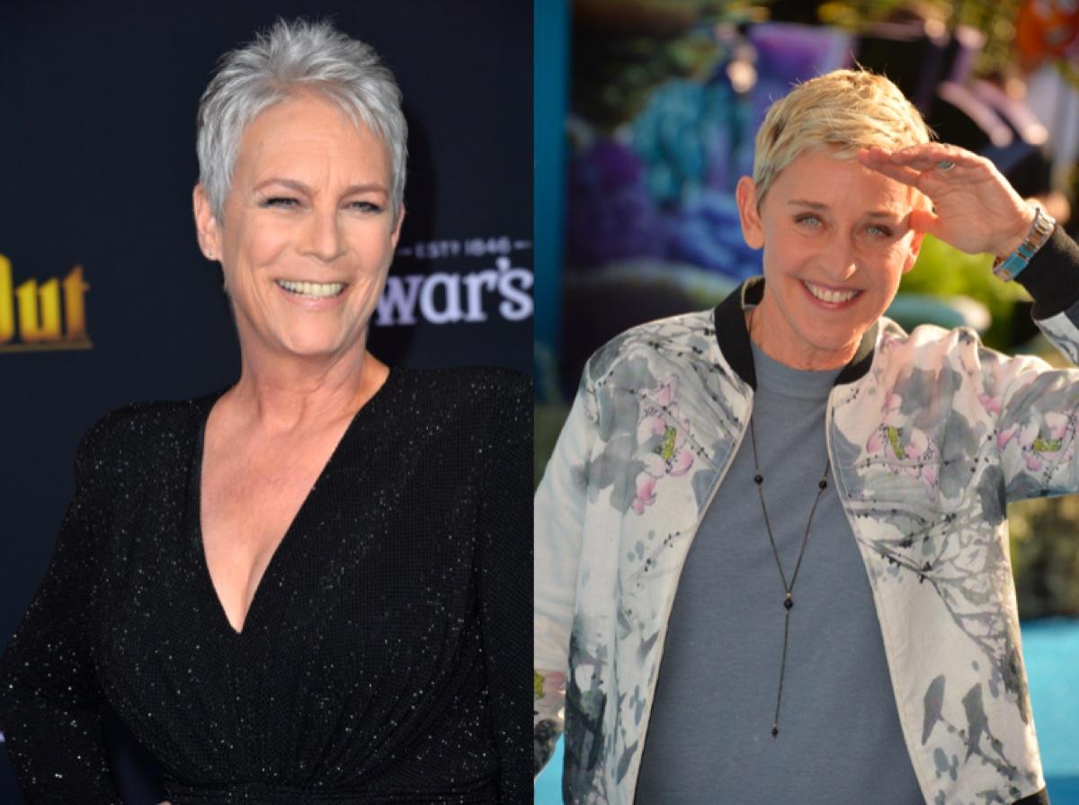 Jamie Lee Curtis and Ellen DeGeneres