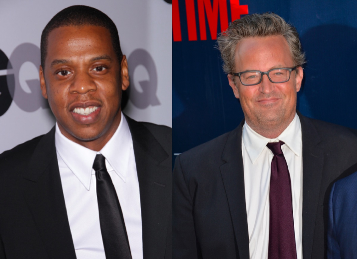 Jay-Z and Matthew Perry