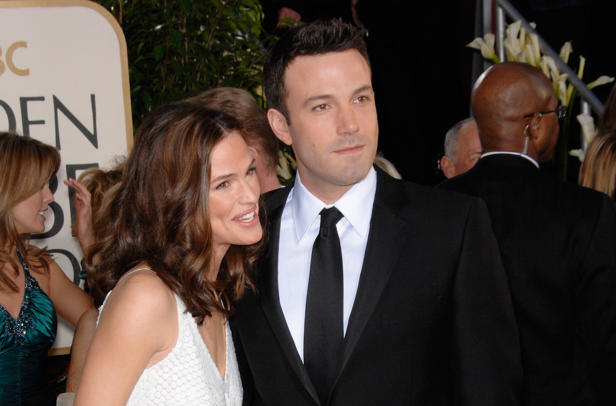 Jennifer Garner and Ben Affleck at the Golden Globe Awards in 2007
