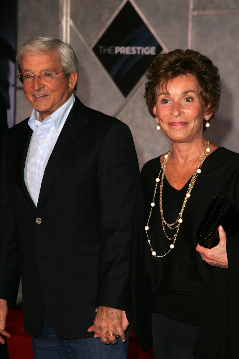 """Jerry and Judy Sheindlin at the premiere of """"The Prestige"""" in 2006"""