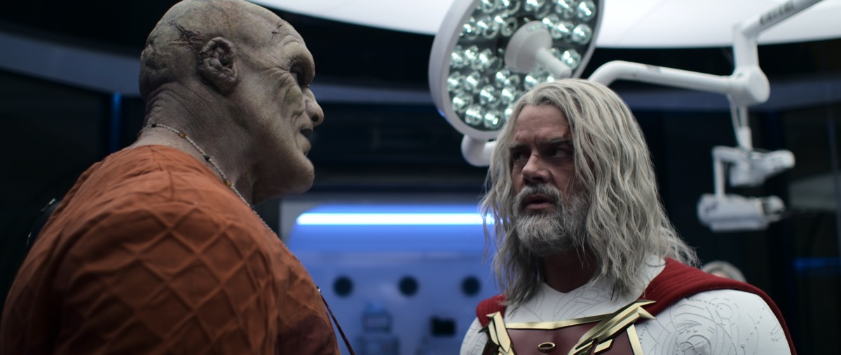Tyler Mane and Josh Duhamel in Jupiter's Legacy