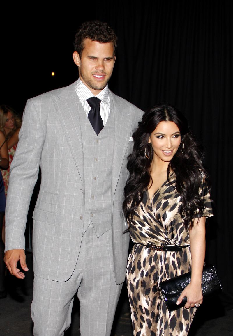 Kris Humphries and Kim Kardashian at the Kardashian Kollection launch party in 2011