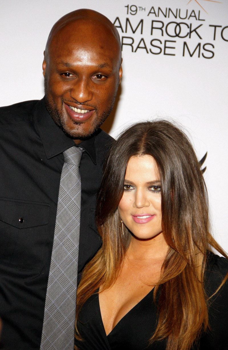 Lamar Odom and Khloe Kardashian at the 19th Annual Race To Erase MS in 2012