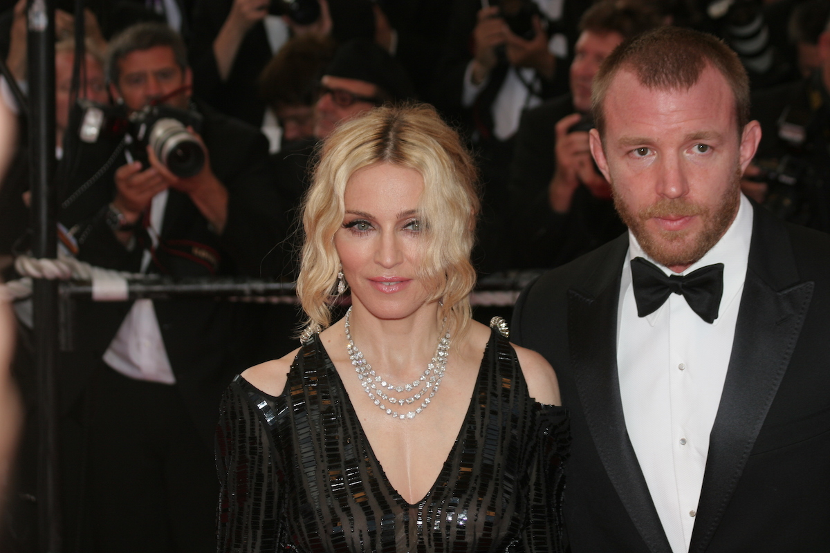 """Madonna and Guy Ritchie at the premiere of """"Che"""" in 2008"""