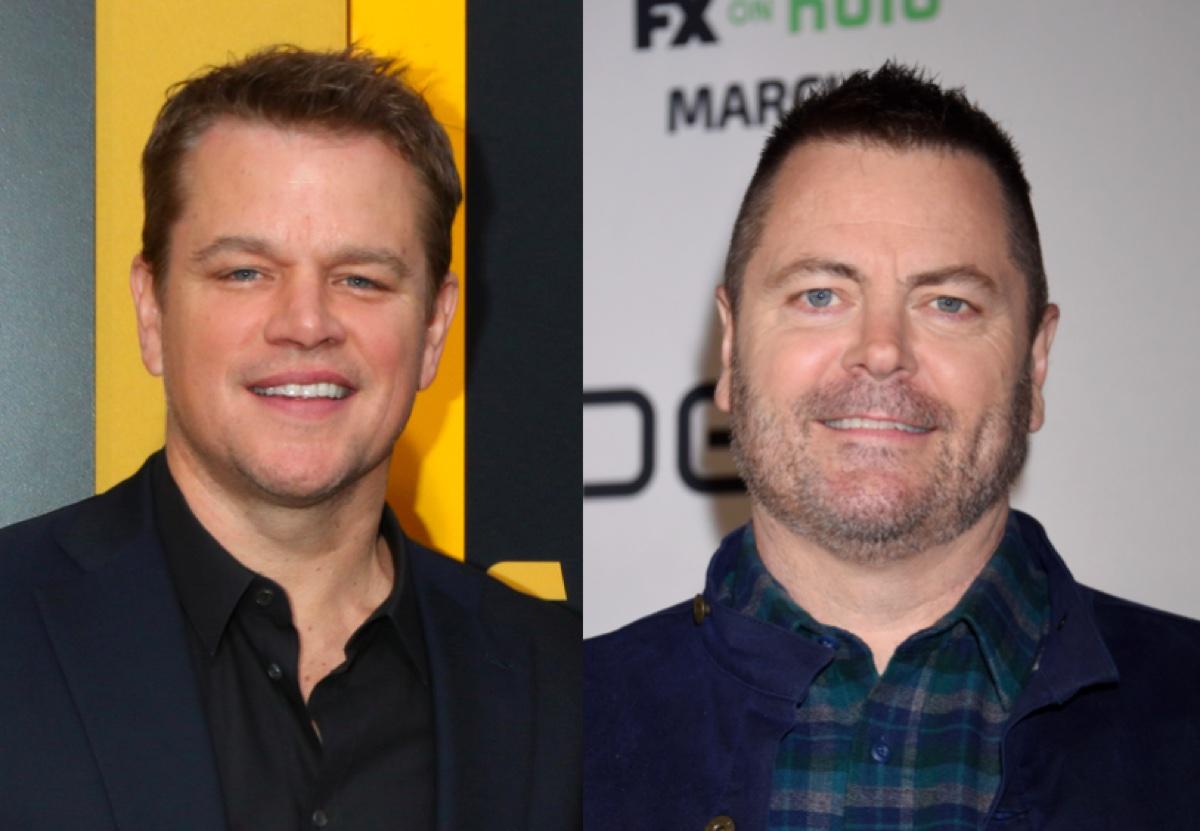 Matt Damon and Nick Offerman