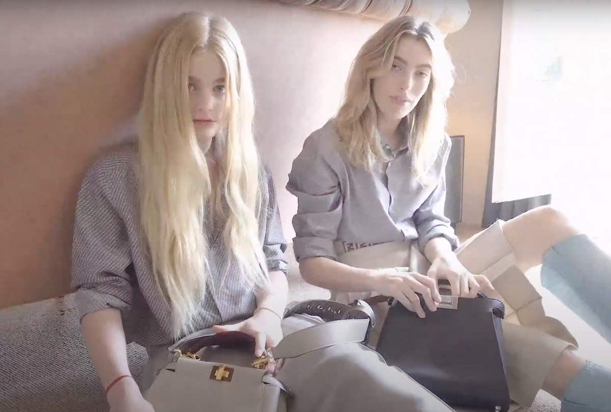 Esther and Clara McGregor in a video campaign for Fendi