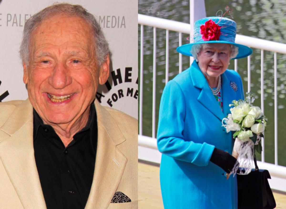 Mel Brooks and Queen Elizabeth II
