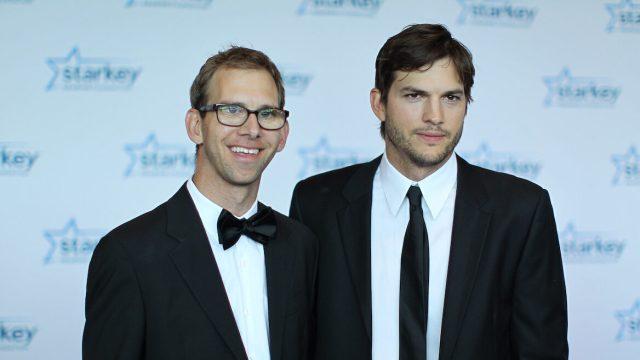 "Michael and Ashton Kutcher at the 2013 Starkey Hearing Foundation's ""So the World May Hear"" Awards Gala"