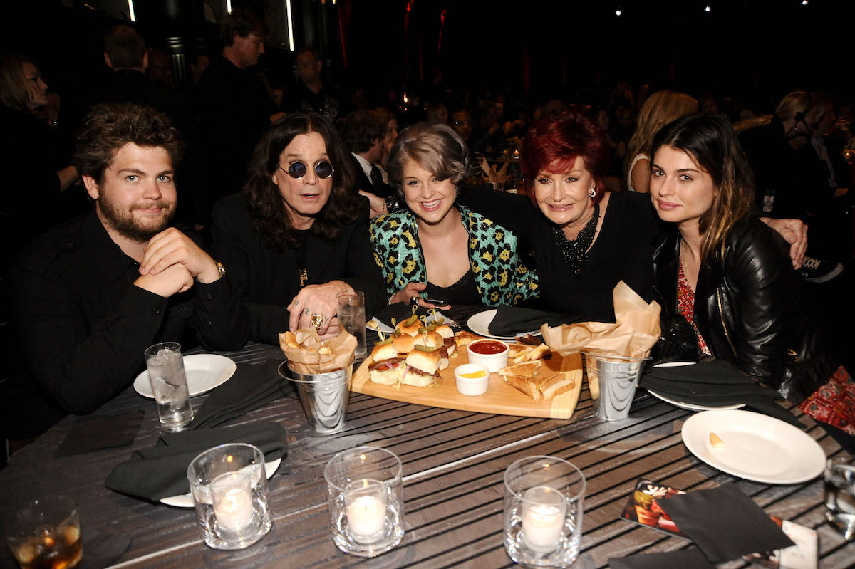 Jack, Ozzy, Kelly, Sharon, and Aimee Osbourne at Spike TV's Guys Choice Awards in 2010