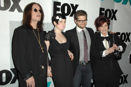 Ozzy, Kelly, Jack, and Sharon Osbourne at the Fox Winter All-Star Party in 2009