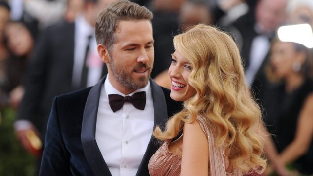 Ryan Reynolds and Blake Lively at the 2014 Met Gala