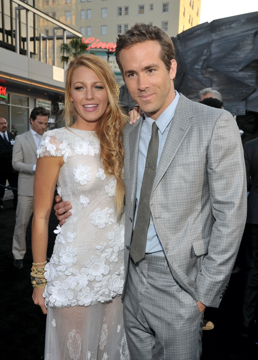 Ryan Reynolds and Blake Lively in 2011