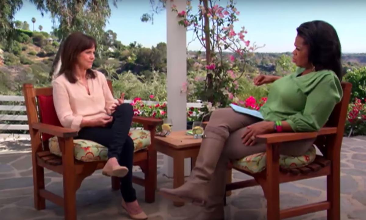 Oprah interviewing Sally Field in 2012