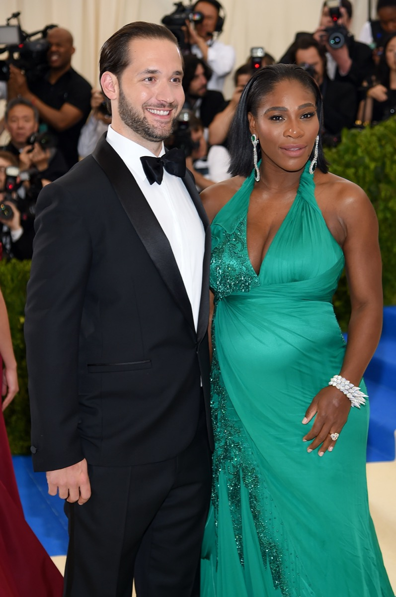 Alexis Ohnaian and Serena Williams in 2017