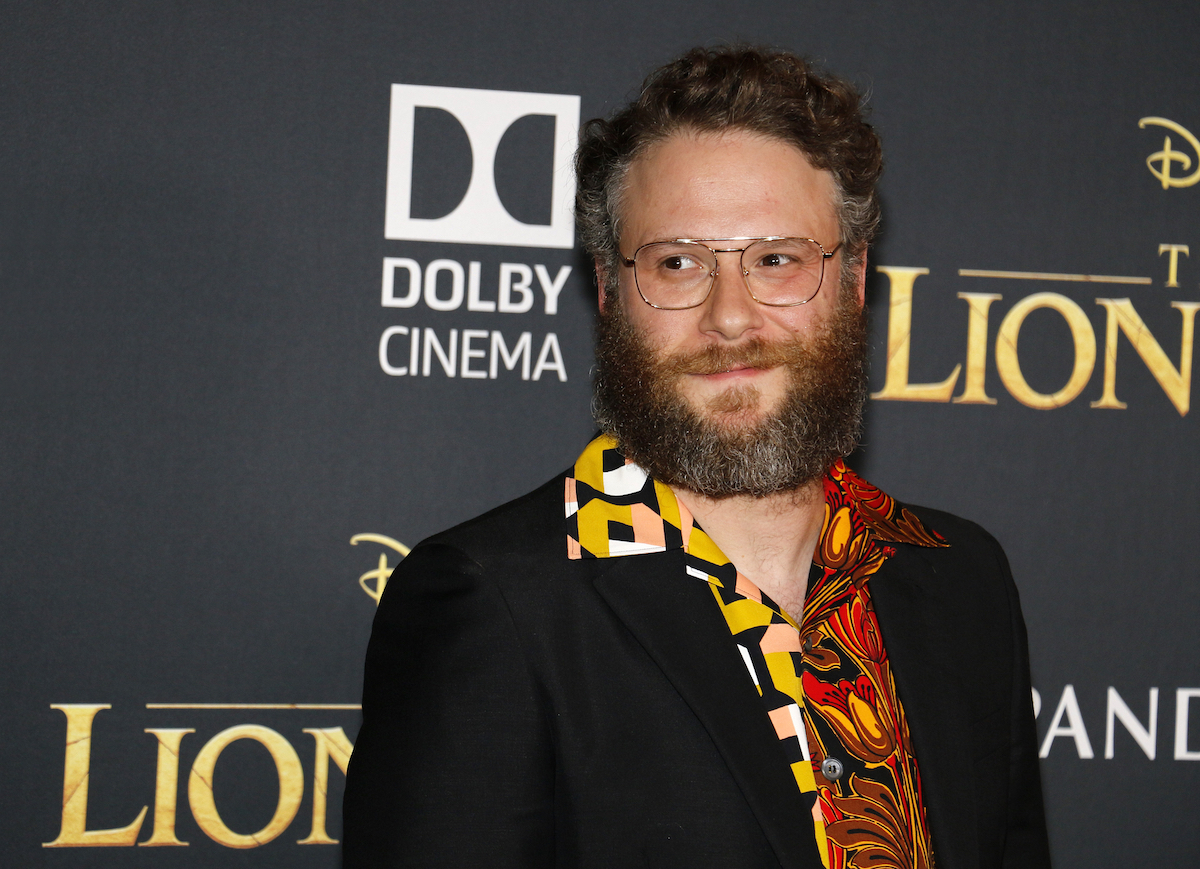 """Seth Rogen at the premiere of """"The Lion King"""" in 2015"""