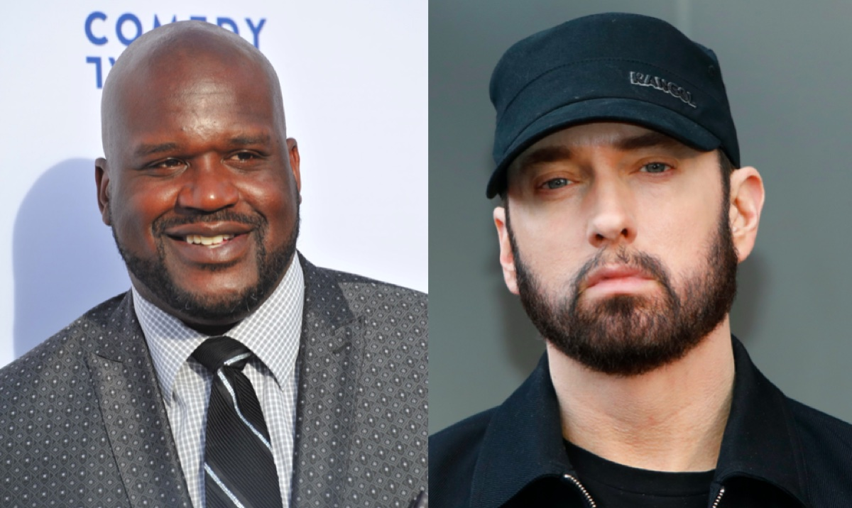 Shaquille O'Neal and Eminem
