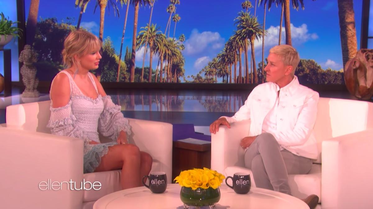 Taylor Swift and Ellen DeGeneres on The Ellen Show