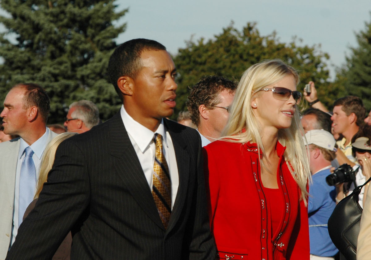 Tiger Woods and Elin Nordegren at the Ryder Cup in 2004